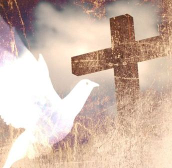 Cross and dove background - photo#13