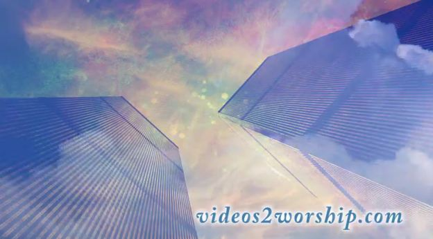 9/11 Twin Towers And Clouds Loop