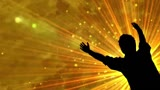 Worshiping In The Light With Lifted Hands