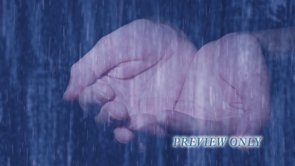 Falling Rain And Hands Worship Motion