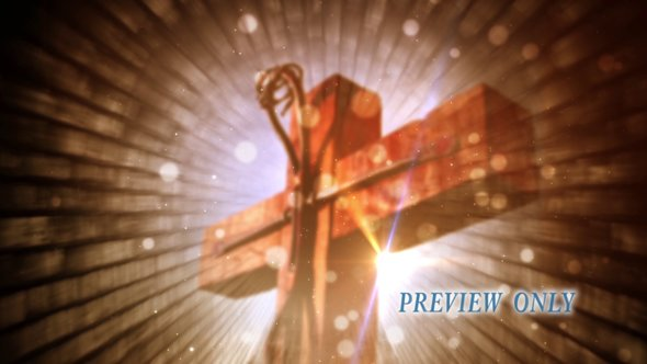 Easter Cross Motion Background Video