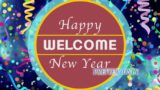 Happy New Year Welcome Background