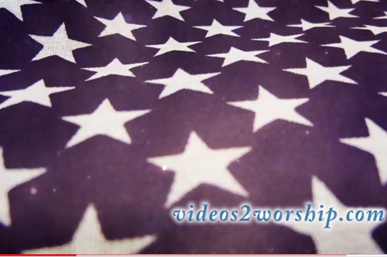 Proprsesenter US Flag Stars July 4th