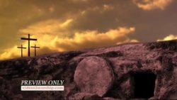 Three Crosses One Empty Tomb
