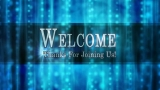 Blue Welcome Title Loopable Motion