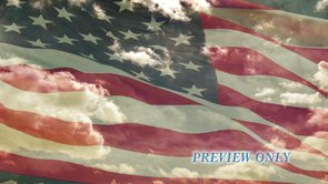 American Flag And Moving Clouds Motion