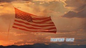 Patriotic Motion: Flag Waving Loop