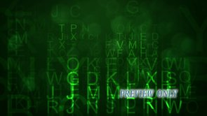 Flying Green Letters Worship Background