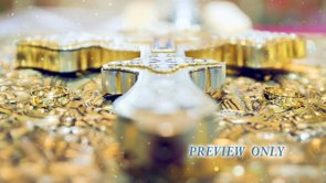 Wedding Background: Cross And Rings