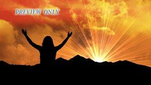 Hands Raised Up At Sunrise Motion