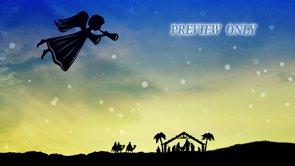 Christmas Angel: Nativity Background