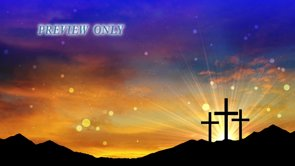 Three Crosses On A Hill: Easter Motion