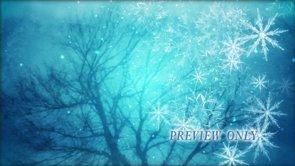 Tree And Big Snow Flakes: Winter Loop