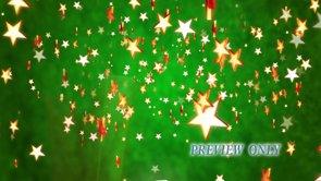 Christmas Stars On Green Backdrop