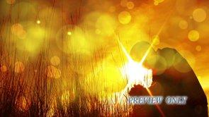 Man Praying: Moving Background Loop
