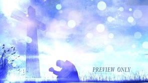 Free Motion: Man Praying At The Cross