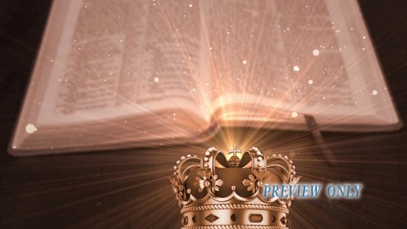 Bible And Royal Crown Motion Loop