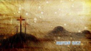 Easter 3 Crosses: Rain Background Loop