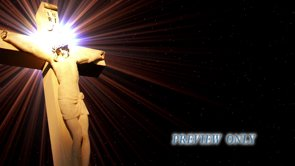 Jesus Cross And Flares: Easter