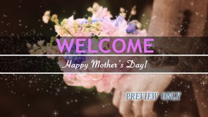 Mother's Day Welcome Title Background