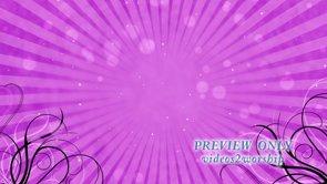 Flourishes And Sunburst: Pink Motion