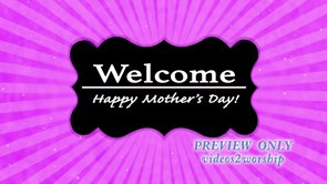 Pink Mother's Day Welcome Video