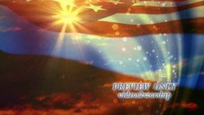 USA Flag Bright Star Patriotic Motion