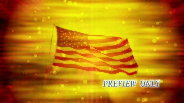 July Fourth: American Flag Video