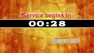 Service Begins In Five Minutes