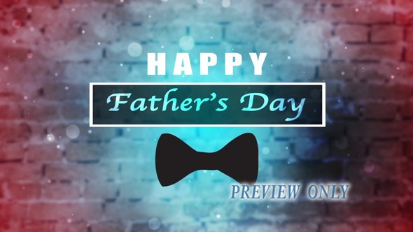 Happy Father's Day Title Motion Video