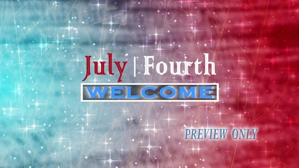 Fourth Of July Title Motion Video