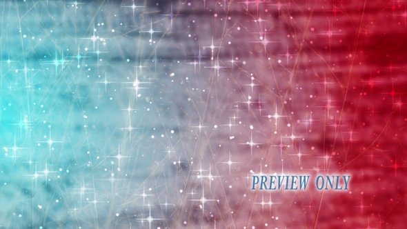 Moving Stars On Red And Blue Backdrop