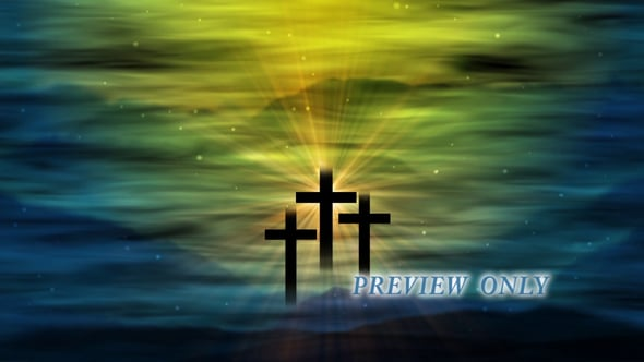 Three Crosses: Easter Background