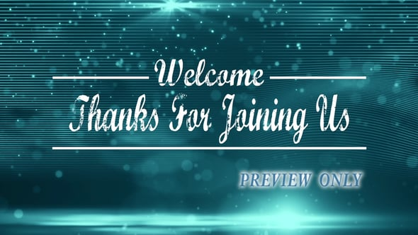 Happy Welcome Video Background