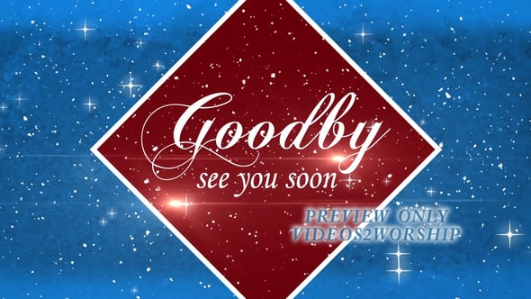 Winter Holidays Goodbye Video Background