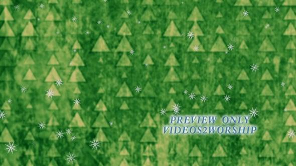 Green Christmas Worship Motion Loop