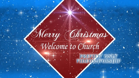 Merry Christmas Welcome Motion Loop