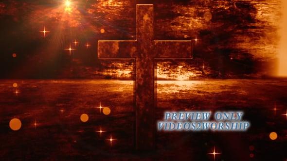 Ester Grunge Cross Worship Background