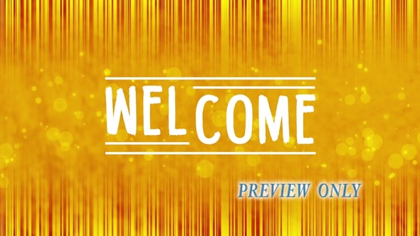 Golden Welcome Motion Background