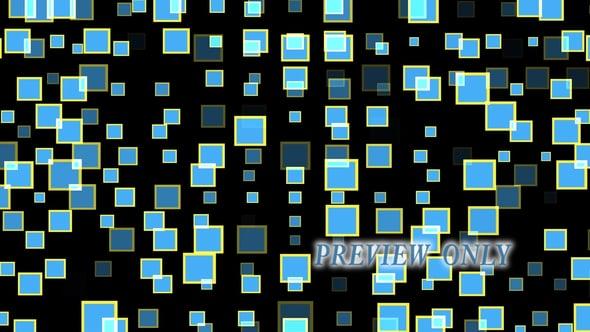 Blue Bliking Squarea Motion Video