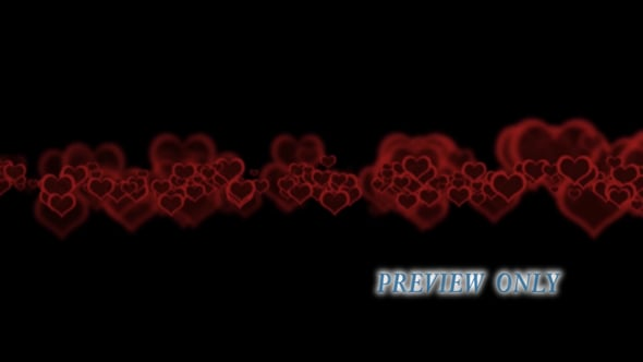 Red Hearts On Black Backdrop