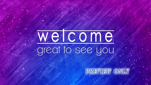 Blue And Purple Welcome Video