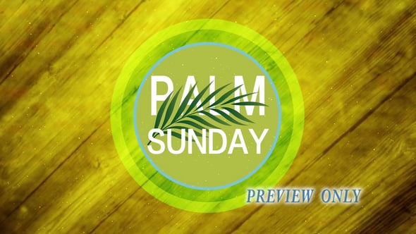 Palm Sunday Title And Branch