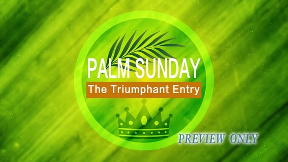 The Triumphant Entry: Palm Sunday