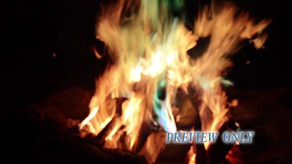 Blurred Camp Fire Background