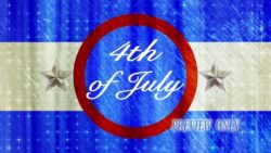 Fourth Of July Motion Background