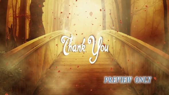 Thank You: Autumn Bridge Motion