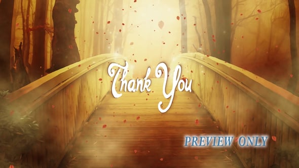 Thank You: Autumn Bridge Motion