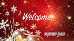 Holidays Welcome Title Background