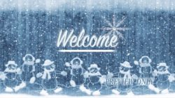 Frozen Winter Holidays Welcome